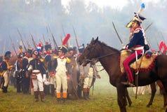 Rimessa in vigore storica di Borodino 2012 Fotografie Stock