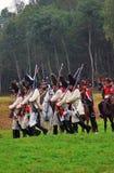Rimessa in vigore storica di Borodino 2012 Immagini Stock Libere da Diritti