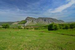 Rimetea village and Piatra Secuiului at distance. Stock Image