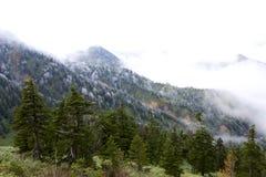 Rimfrostlandskapet av bergskedjan Fotografering för Bildbyråer