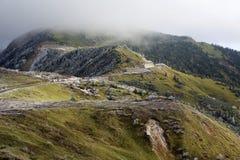 Rimfrostlandskapet av den höga slätten Arkivbild