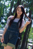Rimight Portrait Beautiful asian woman  in Park Stock Photography