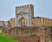 Rimini, the arch of Augustus Royalty Free Stock Photography