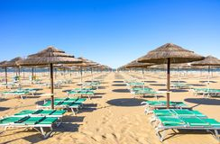 Rimini Beach,Italy Royalty Free Stock Photos