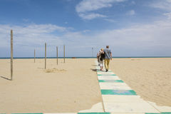 Rimini beach Stock Photo