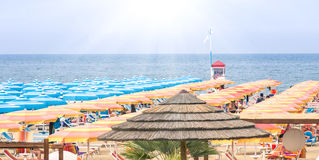 Rimini Beach Italy - Panoramic summer overview Stock Images