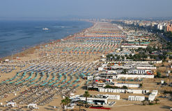 Rimini beach Italy Stock Photo