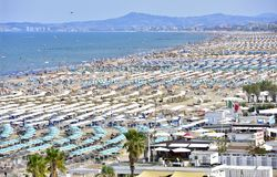 Spiaggia di Rimini in italia royalty free stock image