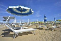 Spiaggia di Rimini in italia stock photos