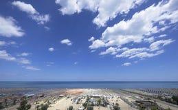Rimini beach Royalty Free Stock Photo