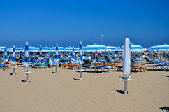 Rimini beach - umbrellas 2 Stock Images