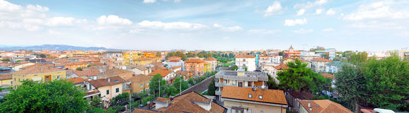 Rimini, bird-eye view city . Italy. Royalty Free Stock Image
