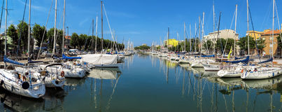 Rimini - Canal with yachts and sailboats Royalty Free Stock Photos
