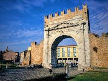 Rimini centro Arkivfoton