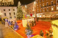 Hectic life in Christmas holidays. Rimini, Italy - December 04, 2016: Hectic life in Christmas holidays Royalty Free Stock Image