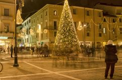 Metaphor for hectic life in Christmas period. Rimini, Italy - December 04, 2016: Metaphor for hectic life in Christmas period Stock Images