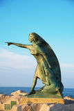 RIMINI, ITALY - June 24, 2017. Monument to women awaiting the return of their husbands from the sea in Rimini, Italy Stock Photos