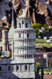 The miniature of Pisa city cahedral in Park of miniatures in Rimini, Italy Stock Images