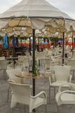 Rimini, Italy - a seafront restaurant. royalty free stock images