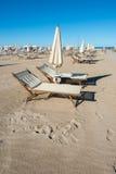 Rimini kilometer-lång sandig strand 15, över 1.000 hotell och th Royaltyfri Foto