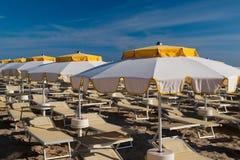 Rimini 15 kilometer lång sandig strand Royaltyfri Bild