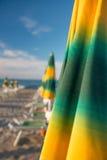 Rimini 15 kilometer lång sandig strand Royaltyfria Bilder