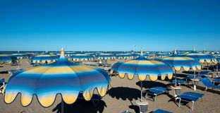 Rimini, 15-kilometer-long sandy beach, over 1,000 hotels, and th Royalty Free Stock Photography