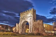 Rimini, l'arco di Augustus - HDR Fotografie Stock