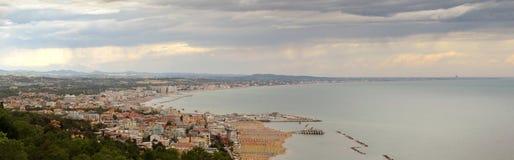 Rimini la Riviera, Emilia Romagna en Italie Photographie stock