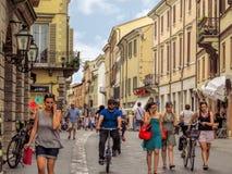 Rimini - People on the street Stock Photography