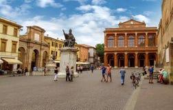Rimini - piazzaCavour fyrkant arkivbilder