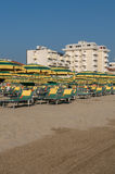 Rimini plaża, Włochy Obraz Stock
