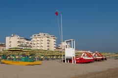 Rimini plaża, Włochy Zdjęcia Royalty Free