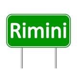 Rimini road sign. Royalty Free Stock Photo