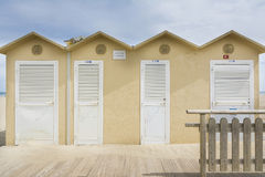 Rimini sea cabin Stock Image