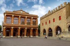 Rimini - teater Amintore Galli Arkivfoto