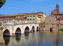 Rimini- Tiberius Bridge Royalty Free Stock Image