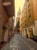 Rimini - ulica stary miasto Zdjęcia Royalty Free