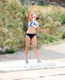 Rimma Gordienko compite en la competición lanzamiento de peso Fotos de archivo