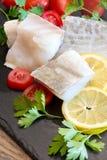 Rimmade codfish för vit Royaltyfri Fotografi