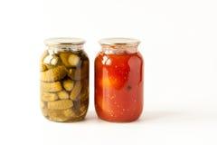Rimmade tomater och gurkor Fotografering för Bildbyråer