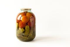 Rimmade tomater och gurkor Royaltyfri Foto