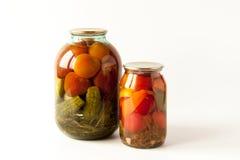 Rimmade tomater och gurkor Royaltyfria Bilder