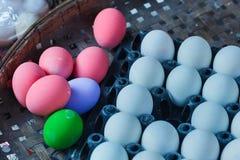 Rimmat ägg/easter ägg/århundradeägg Arkivbilder