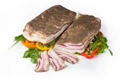 Rimmat griskött späcker Fotografering för Bildbyråer