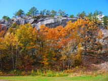 Rimmon Rock and Foliage. Is on the west side of Manchester, NH stock photos
