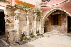 Rimondi喷泉, Rethymnon 库存图片