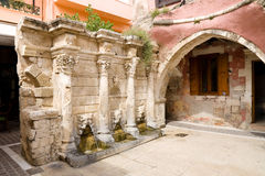 Rimondi fontanna, Rethymnon Obraz Stock