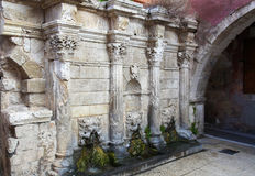 Rimondi Fountain in  Rethymno, Crete, Greece Stock Photos