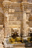 Rimondi fountain. Rethymno. Crete, Greece Stock Image